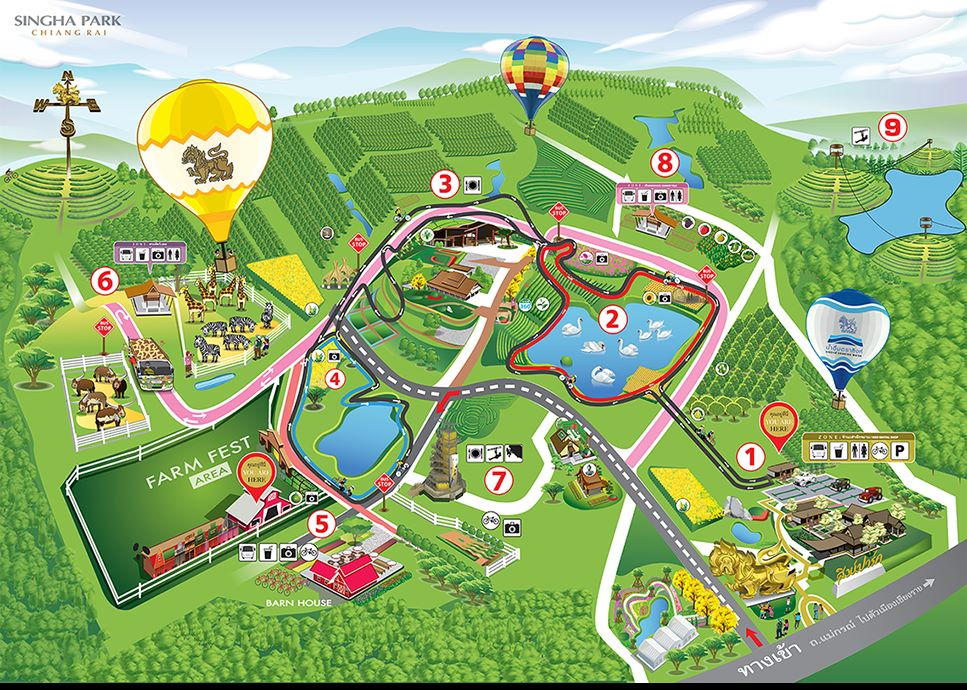 Map of Singha Park Chiang Rai