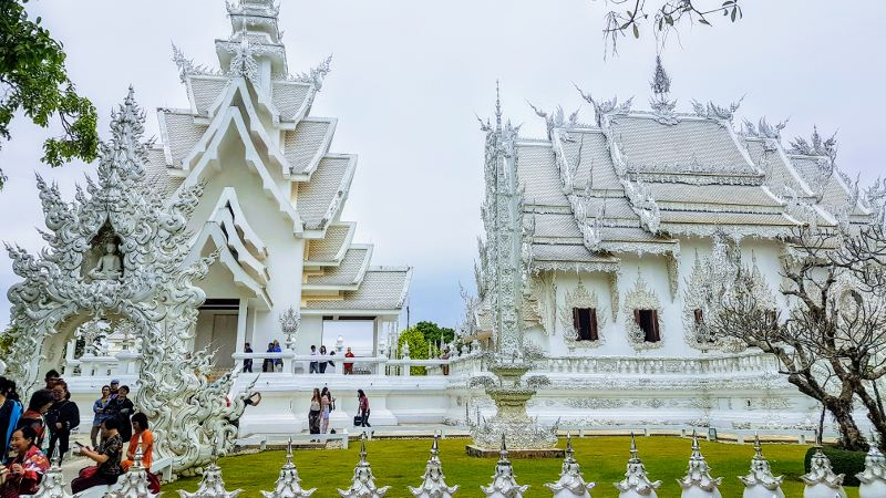 White Temple Chiang Rai - Side View