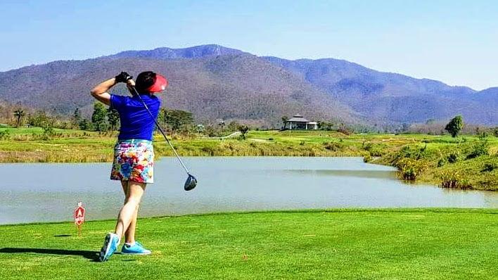 Noi playing at Alpine Golf Resort Chiang Mai