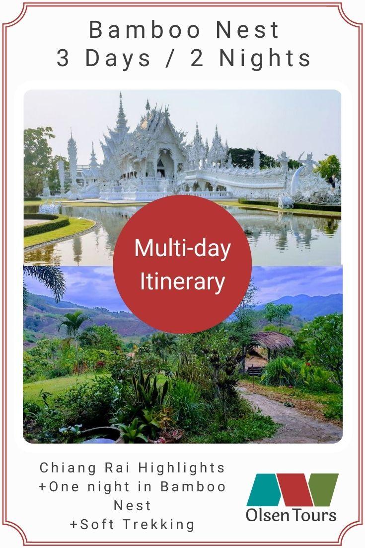 Bamboo Nest Chiang Rai Tour Itinerary