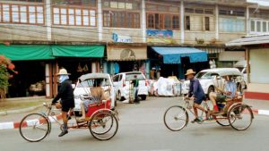 Samlor (3 wheeled rickshaw) in Chiang Mai