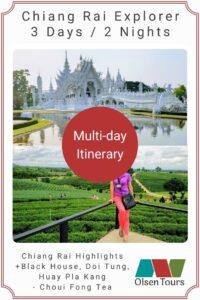 Chiang Rai Explorer Tour Itinerary