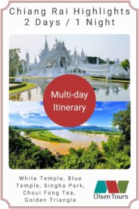 Chiang Rai Highlights Tour Itinerary