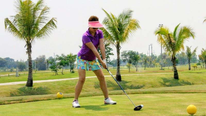 teeing off at North Hill Golf Club, Chiang Mai