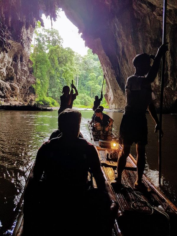 Tham Lod Cave - Bamboo Rafting in Darkness
