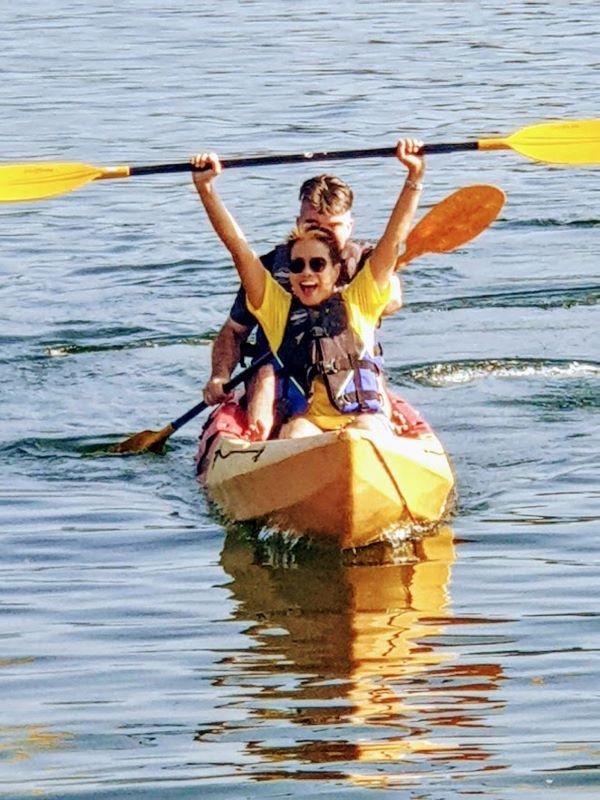 kayaking at mae ngat dam
