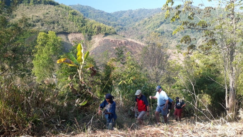 Trekking from Bamboo Nest to Ban I-Ko Nam Tok village
