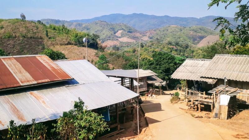 Lahu village of Ban Cha Cho