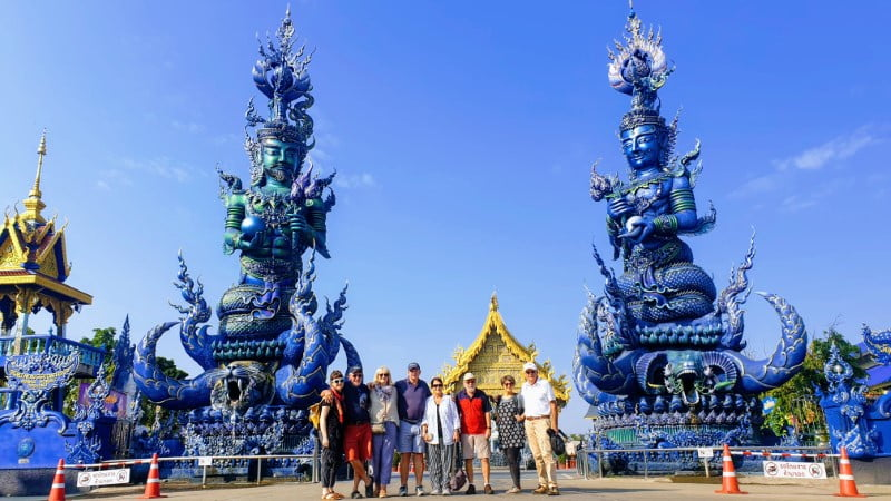 Entrance to Blue Temple (Wat Rong Seua Ten)