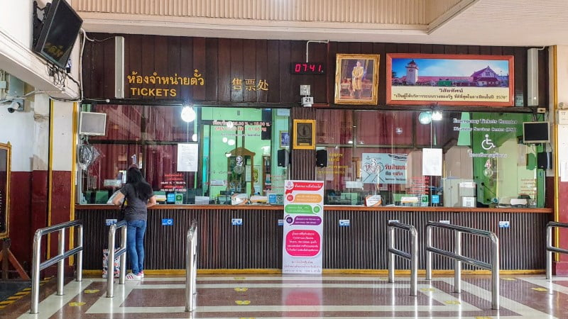 Ticket Office at Chiang Mai Train Station
