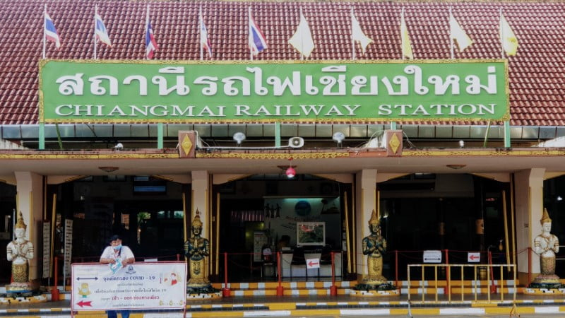 Main entrance of Chiang Mai Train Station